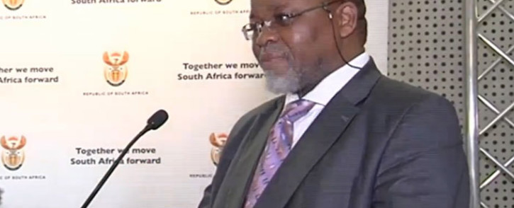 A screengrab of Mineral Resources Minister Gwede Mantashe at a briefing on 27 September 2018.