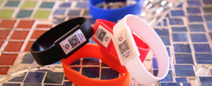 Janine De Grill came up with the bracelet after her daughter was involved in car accident,  and could not communicate with the medics. The bracelet uses a QR code to store important medical information in case of emergencies. Picture: Bertram Malgas.
