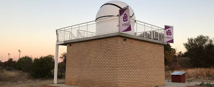The NWU observatory. Picture: @theNWU/Twitter