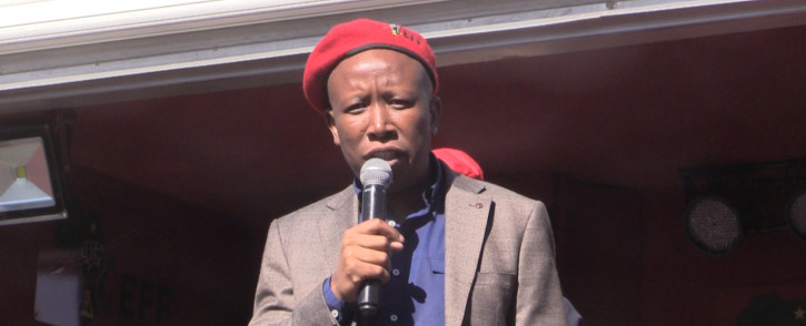 FILE: EFF leader Julius Malema at the Johannesburg Central Police Station. Picture: Kgothatso Mogale/EWN