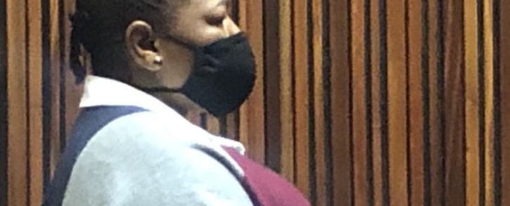 Tsakani Ngobeni- Collins Chabane municipal manager- has been granted R50,000 bail by the Palm Ridge court on Friday, 12 March 2021.  She allegedly deposited R120 million with VBS Mutual Bank. Picture: Nthakoana Ngatane/EWN