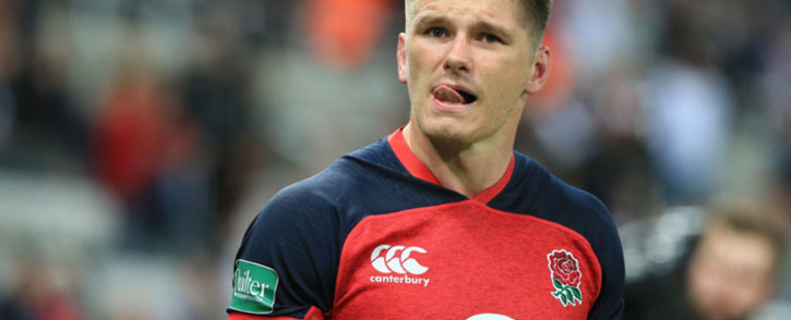 England's centre Owen Farrell reacts at the final whistle during the friendly rugby union Test match between England and Italy at St James Park in Newcastle on 6 September 2019. Picture: AFP