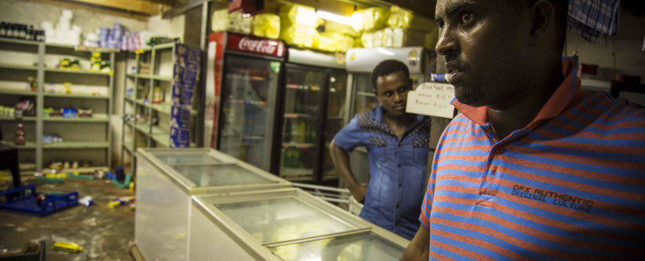 Mohammed Omar, a Somali foreign national lost the contents of his spaza shop when it was looted during service delivery protests in Olievenhoutbosch. Picture: Thomas Holder/EWN