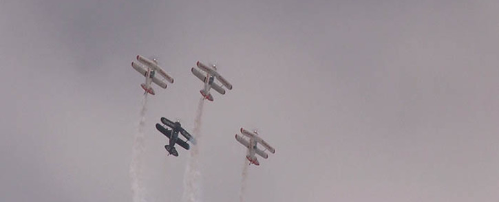 FILE: Four Tiger Moth planes take to the skies at the African Aerospace and Defence arishow at Waterkloof Air Force Base in Pretoria on 21 September 2014. Picture: Reinart Toerien/EWN