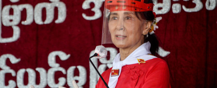 FILE: Myanmar's Aung San Suu Kyi, leader of the National League for Democracy (NLD), has not been seen in public since she was taken under house arrest. Picture: Thet Aung/AFP
