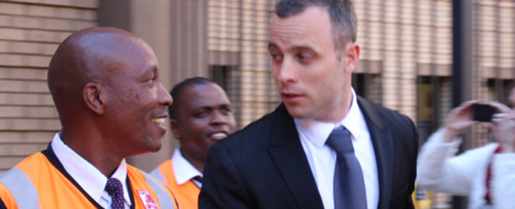 FILE: Oscar Pistorius leaves the High Court in Pretoria after his murder trial on 12 May 2014. Picture: Christa Eybers/EWN.