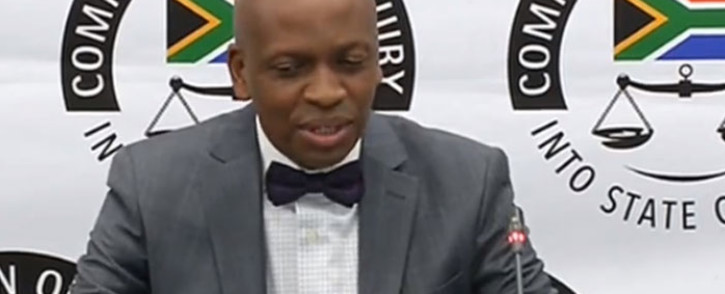 A screengrab of Tshiamo Sedumedi, a director at law firm MNS, giving testimony at the state capture inquiry on 28 May 2019.