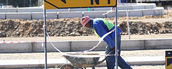 Construction worker. Picture: Taurai Maduna/EWN