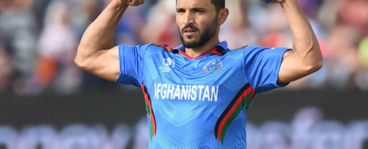 Afghanistan's captain Gulbadin Naib celebrates the wicket of Australia's captain Aaron Finch for 66 during the 2019 Cricket World Cup group stage match between Afghanistan and Australia at Bristol County Ground in Bristol, southwest England, on 1 June 2019. Picture: AFP.