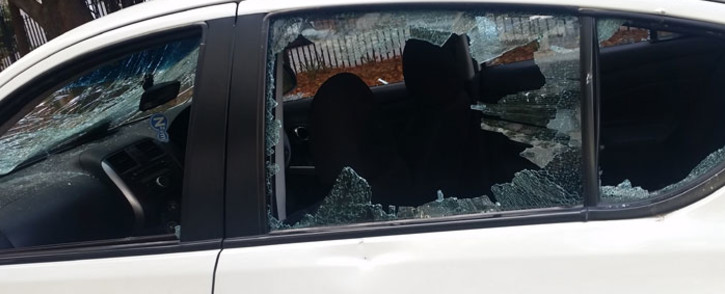 Uber drivers were attacked in Sandton, allegedly by metered drivers. Picture: Supplied