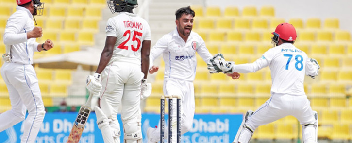 Rashid Khan stars with 11 wickets in the game as Afghanistan deny Zimbabwe a series win. Picture: Twitter @cricketcentre