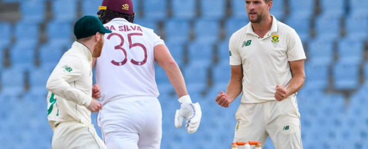 Play on the third day of the second Test between the West Indies and South Africa in St Lucia was delayed by rain on Sunday, 20 June 2021. Picture: Twitter/@ICC