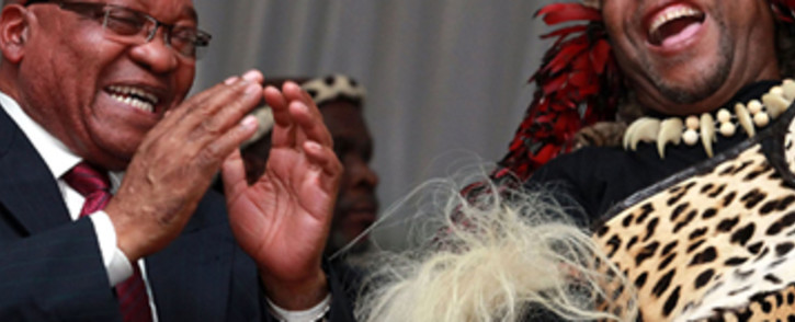FILE: President Jacob Zuma (L) and King Goodwill Zwelithini (R). Picture: Supplied.