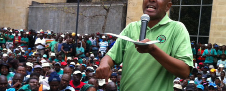 Amcu President Joseph Mathunjwa. Picture: Gia Nicolaides/EWN.