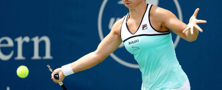 Ashleigh Barty of Australia returns a shot to Maria Sakkari of Greece at Lindner Family Tennis Center on 16 August 2019 in Mason, Ohio. Picture: Getty Images/AFP