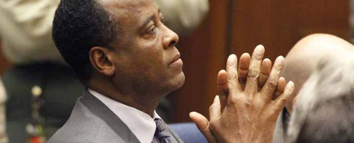 FILE: Dr Conrad Murray. Picture: AFP.