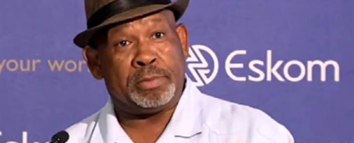 FILE: A YouTube screengrab of Jabu Mabuza at the announcement of Eskom's interim financial results on 28 November 2019.