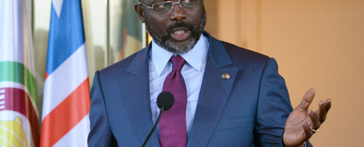 FILE: Liberian president George Weah. Picture: AFP