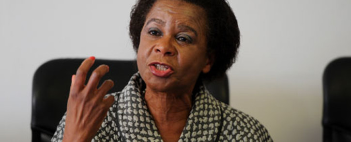 Agang SA leader Mamphela Ramphele holds a news conference in Johannesburg on Wednesday, 21 August 2013 where she disclosed her own financial affairs for the country to scrutinise, in line with the need for accountability, and to set an example for President Jacob Zuma. Picture: Sapa.