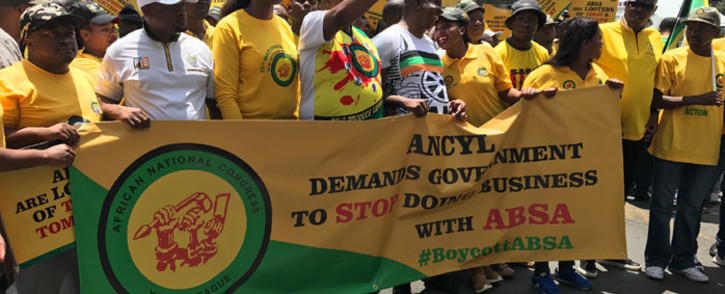 FILE: ANCYL leaders and supporters during a march. Picture: EWN