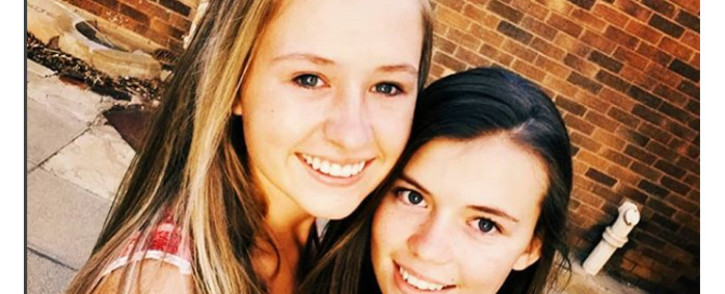16-year-old Sharnelle Hough and 17-year-old Marna Engelbrecht. Picture: Instagram/marnaengelbrecht