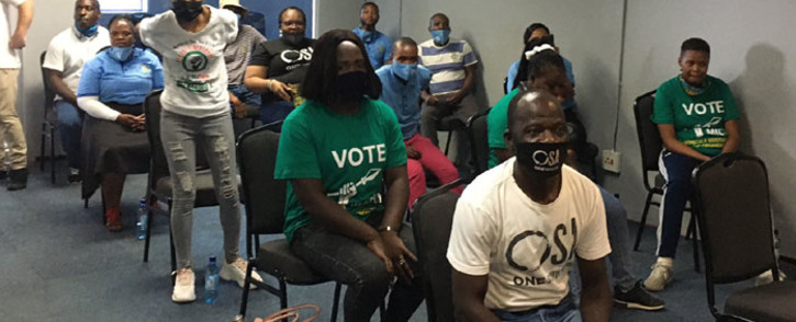 Independent candidates in Midrand on 6 October 2021 to sign the People's Pledge. Picture: Thando Kubheka/Eyewitness News