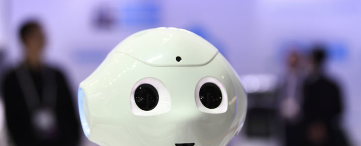 The Cloud Pepper robot by CloudMinds stands at the Mobile World Congress (MWC) in Barcelona on 25 February 2019. Picture: AFP