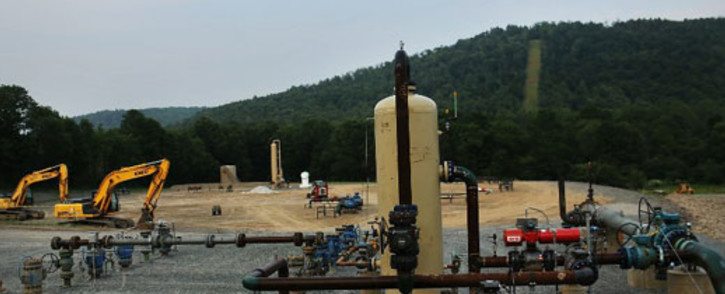 FILE: Equipment used for the extraction of natural gas is viewed at a hydraulic fracturing site on June 19, 2012 in South Montrose, Pennsylvania. Picture: AFP