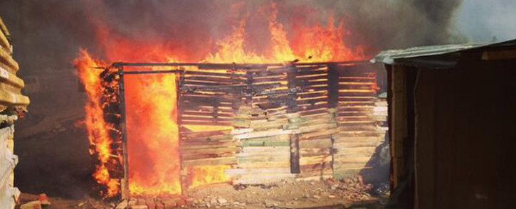 FILE: It's alleged the fire was sparked by a stove that was left unattended. Picture: Carmel Loggenberg/EWN.