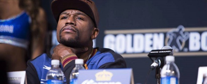Floyd 'Money' Mayweather at the pre-fight press conference on 30 April 2016. Picture: Facebook.com