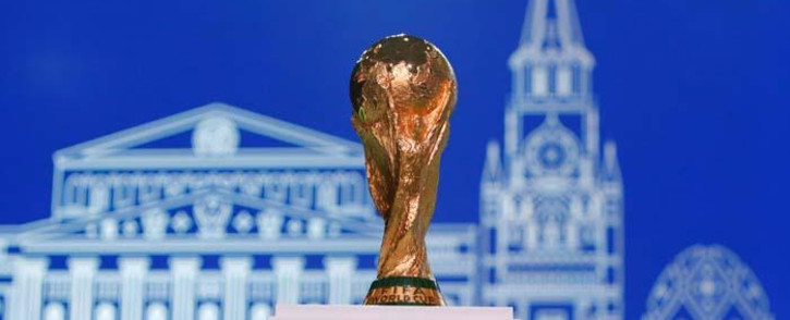 The 2018 Fifa World Cup winner's trophy on display before the 68th Fifa Congress in Moscow on 13 June 2018. Picture: Reuters