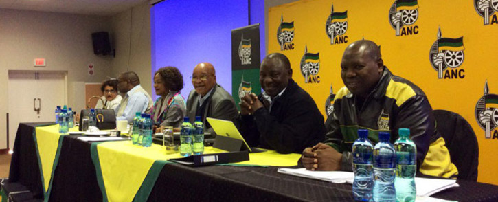 African National Congress (ANC) members at the party's National Executive Committee (NEC) meeting in Irene, Tshwane. Picture: ‏@MYANC.""