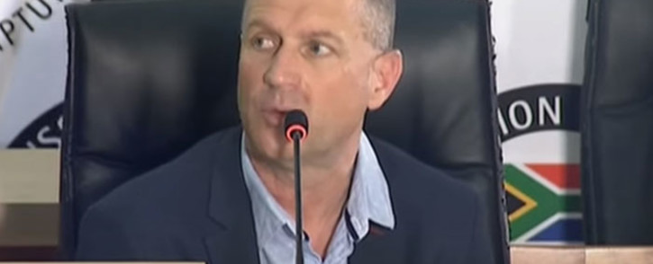 A screengrab of former managing director of rail at Hatch, Henk Bester, appearing at the state capture inquiry in Johannesburg on 20 October 2020. Picture: SABC/YouTube