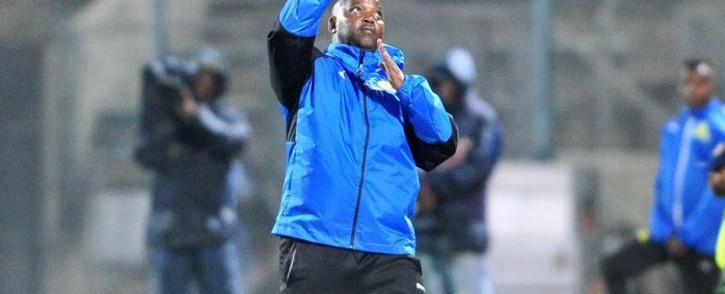 FILE: Mamelodi Sundowns coach Pitso Mosimane gestures during a match. Picture: @Masandawana/Twitter