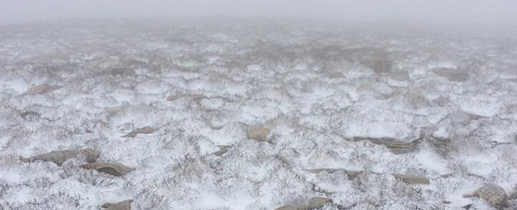 FILE: Snowfall pictured in Ceres. Picture: Matroosberg Private Nature Reserve/Facebook.
