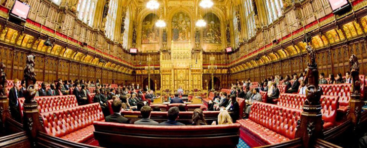 Lawmakers are seen in the British parliament. Picture: @ukparliament/Facebook.com.