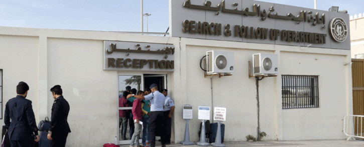 Migrants arrive at the Search and Follow up Department, which is processing the claims of those trying to leave as part of an ongoing three-month amnesty for undocumented residents, on 8 November 2016 in the Qatari capital Doha. Picture: AFP