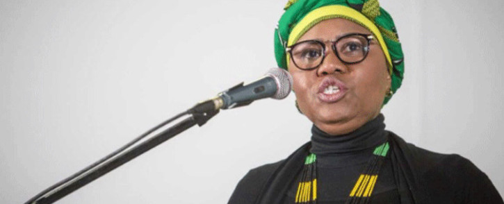 Lindiwe Zulu, the Small Business Development Minister, delivers her address at the Progressive Business Forum's breakfast on day three of the ANC's policy conference. Picture: Thomas Holder/EWN.