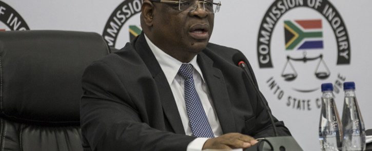 FILE: Deputy Chief Justice Zondo during the first public hearing on state capture allegations in Johannesburg on 20 August 2018. Picture: AFP.
