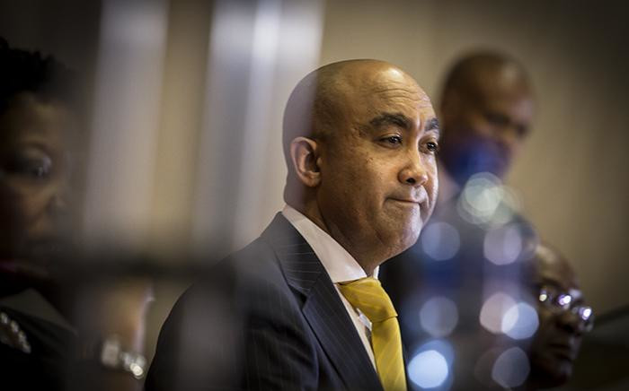 National Director of Public Prosecutions Shaun Abrahams addresses the media on charges being dropped against Finance Minister Pravin Gordhan and two former SARS employees Ivan Pillay and Oupa Magashula at the NPA's head office in Pretoria. Picture: Reinart Toerien/EWN