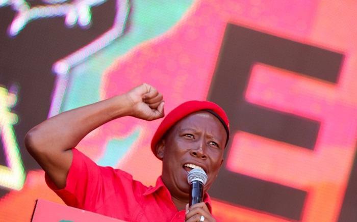 FILE: EFF leader Julius Malema at Orlando Stadium on 5 May 2019. Picture: Kayleen Morgan/EWN