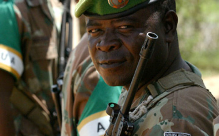 A South African soldier . Picture: Werner Beukes/SAPA