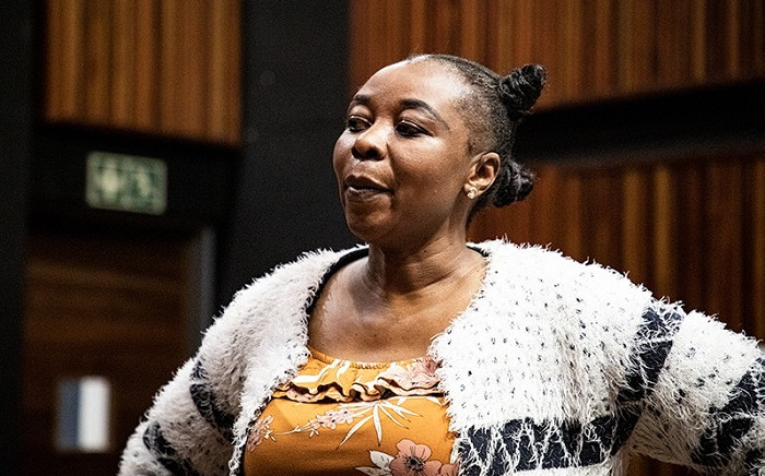 Nomia Rosemary Ndlovu in the Palm Ridge Magistrates Court. Video footage emerged this week purportedly showing her arranging a hit on her sister with the aim of claiming an insurance pay-out. Picture: Xanderleigh Dookey Makhaza/Eyewitness News.