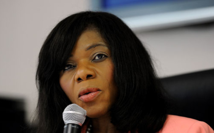 Public Protector Thuli Madonsela is seen at the release of a report in Pretoria, Thursday, 7 February 2013 about maladministration in the justice department regarding the treatment of a whistleblower. Picture: Werner Beukes/SAPA