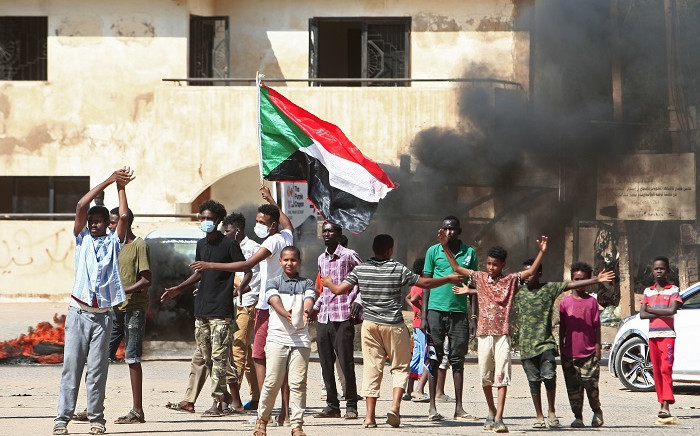 Sudanese protesters take to the streets on 21 October 2020 in Khartoum and neighbouring cities against a worsening economic crisis, and to demand justice for people killed during past demonstrations that toppled president Omar al-Bashir. Picture: AFP