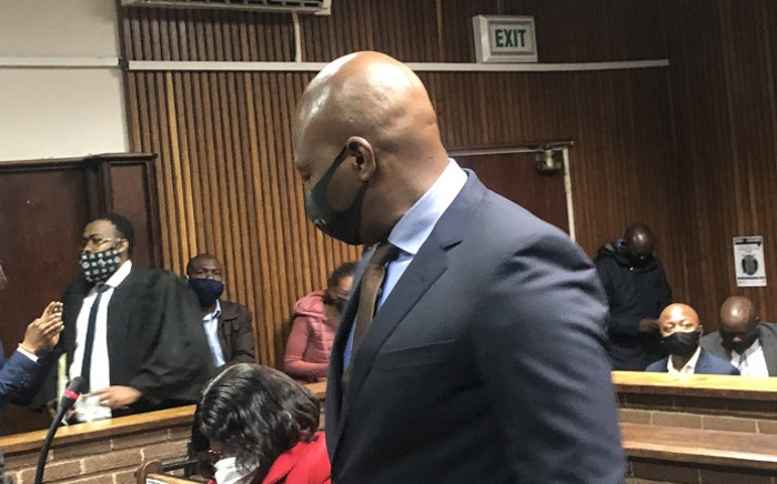 Blackhead Consulting director Edwin Sodi appears at the Bloemfontein Magistrate Court on 2 October 2020 over corruption linked to the R255 million Free State asbestos removal project. Picture: Nthakoana Ngatane/EWN