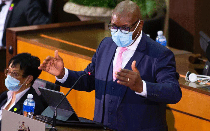 Gauteng Premier David Makhura delivers his State of the Province Address in the Gauteng Legislature on 23 February 2021. Picture: @GautengProvince/Twitter.