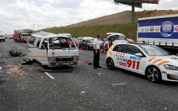 At least one person was killed and several other injured after an accident on the N1 in Midrand. Picture: @Netcare911_SA