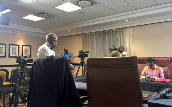 The SABC Chief Operating Officer, Hlaudi Motsoeneng, in Sandton for the judgment in his desciplinary hearing. Picture: Emily Corke/EWN.