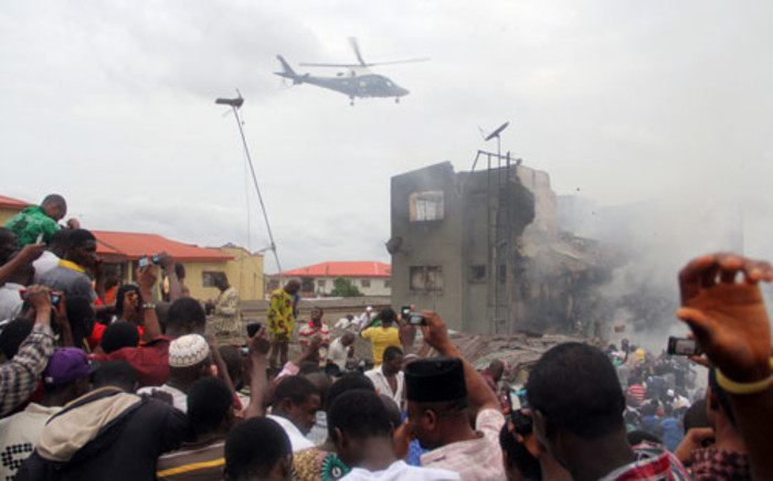 The Dana Airlines flight went down in a residential area in Lagos on Sunday.